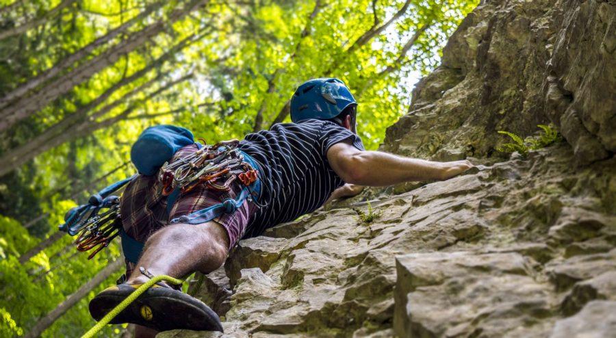 Klettern in der Natur